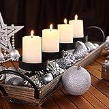 Deuba Weihnachtskugeln Silber 100 Christbaumschmuck Aufhänger Christbaumkugeln für den Weihnachtsbaum Weihnachtsbaumschmuck Weihnachtsbaumkugeln - 4