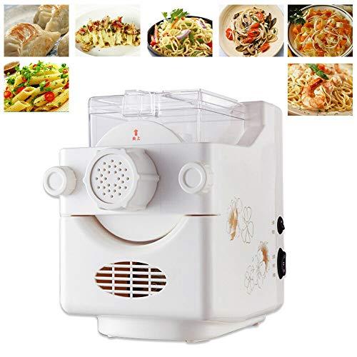BTdahong 160W Vollautomatische Nudelmaschine Elektrisch Pastamaschine Nudelteig Teigknetmaschine Spagetti Pasta Dough Maker + 9 Schimmel Weiß