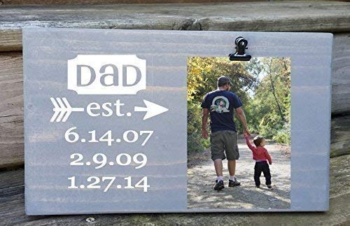 Established Dates Picture Frame gift board photo dad Gift for quality assurance supreme