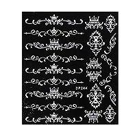 Kppto ホワイト5Dネイルアートステッカースライダージュエリーの花のつる接着剤ネイルステッカーラップ箔マニキュア夏の装飾 (色 : DP 244)