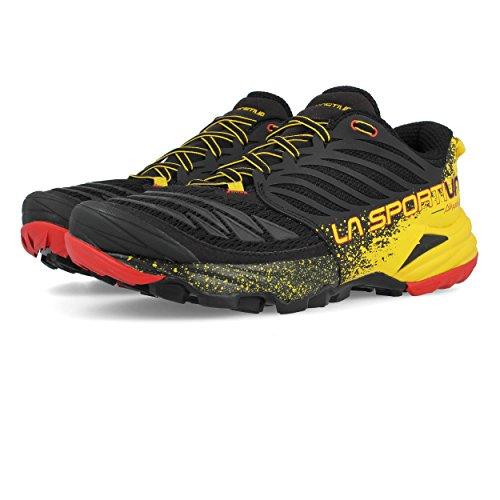 La Sportiva Akasha Trail Running Calzado para Hombre, Multicolor (Red/Black/Yellow), 43 EU