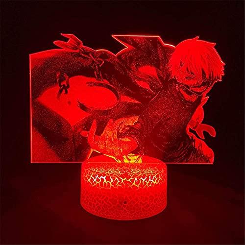Tokyo Ghoul Ken Kaneki / Sasaki 3D lámpara de luz Luna lámpara LED mesa lámpara decoración luz con control remoto para niños Navidad Halloween cumpleaños