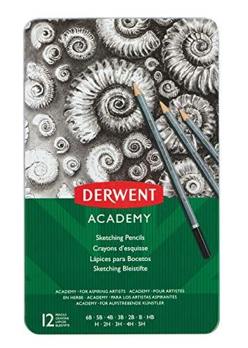 Derwent Academy Sketching 12 Tin