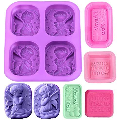 beihuazi® Seifenform Silikonform Rechteckige Seifenformen Silikon für handgefertigte Seife Cupcakes Gelee Gebäck Dessert
