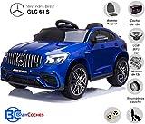 BC BABY COCHES Mercedes GLC 63S - Coche eléctrico para niños con BATERÍA 12v con Ruedas Caucho y Asiento Polipiel, Mando a Distancia (Azul)