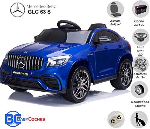 BC BABY COCHES Mercedes GLC 63S - Coche eléctrico para niños con BATERÍA 12v...