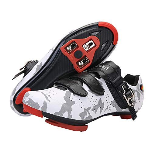 Men's Cycling Shoes with Delta Cleats Compatible with Peloton Indoor Outdoor Riding Spinning Shoes for Peleton Bike Women Mountain or Road Bike Shoes white Size: 14.5 Women/12 Men
