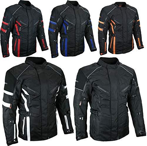 HEYBERRY Herren Touren Motorradjacke Textil schwarz Gr. 7XL
