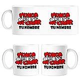 Diver Tazas Taza Atleti Letras Nunca Dejes de Creer Personalizable con Nombre ilustrado por Jorge Crespo Cano - Cerámica