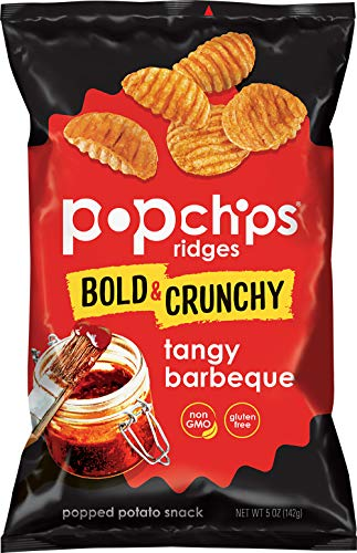 popchips Ridges Tangy Barbeque Potato Chips 5 oz Bags (Pack of 12), White (F-AR-50306)