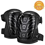 Professional Knee Pads for Work with Adjustable Straps, Great for Construction, Gardening, Flooring, Heavy Duty Foam Padding and Comfortable Gel Cushion