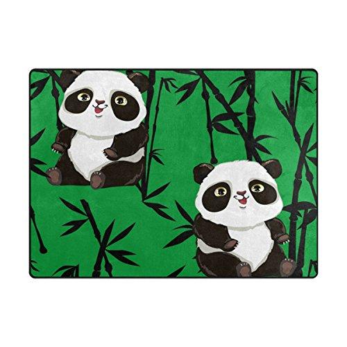 """MyDaily Bambus Teppich mit niedlichem Panda-Motiv, 122 x 152 cm, Wohnzimmer, Schlafzimmer, Küche, dekorativ, Leichter Schaumstoff-Teppich, Polyester, Multi, 4\' x 5\'3\"""""""