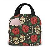 Sugar Skull - Bolsa de almuerzo para picnic (unisex, reutilizable), diseño de calavera
