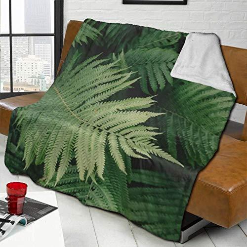 MEUYGOFLZ Manta de forro polar con diseño de hojas verdes en la selva, ligera, supersuave, acogedora, de microfibra