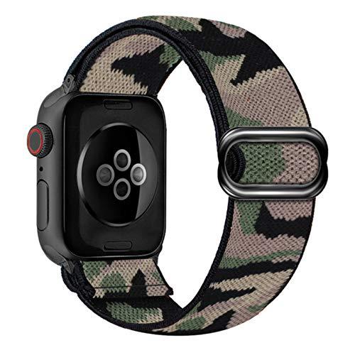 Cinturino in nylon per cinturino Apple Watch 6 38mm 40mm 42mm 44mm per Iwatch Series 6 5 4 3 2 Cinturino di ricambio per orologio elastico Bohemia C,Camouflage 2,42mm