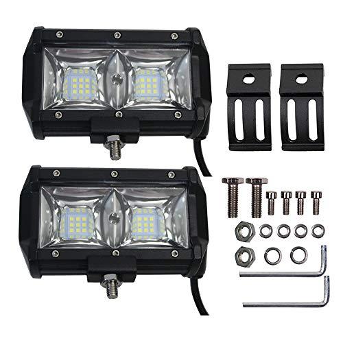 CARVOC 2PCS 5Inch 54W Flood LED Light 5400LM Driving Lights Fog Lights Led Off Road Lights for Trucks UTV ATV Marine Boat