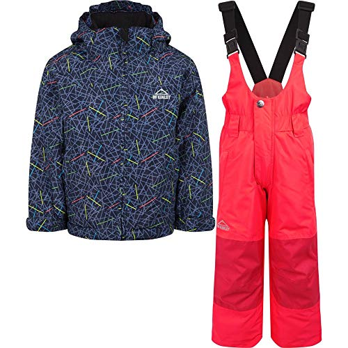 McKINLEY Kinder Timber Ray Ii Anzug, Navy Dark/Pink, 140