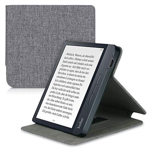 kwmobile Funda Compatible con e-Reader Kobo Libra H2O - Carcasa de Tela para Lector electrónico Textil