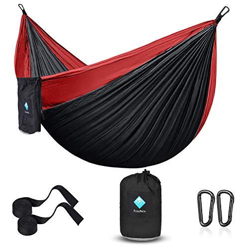 ERUW Camping Hamaca, Hamaca Ultraligera para Viaje y Camping Portátil Paracaídas Secado Rápido, Columpio de Nailon 210D para Patio & Jardín Hamaca (55