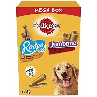 Pedigree Mega Box - Medium Dog Treats with Rodeo Duos and Jumbone chews 780g