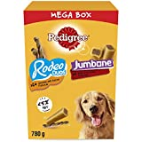 Pedigree Mega Box - Dog Treat Multipack with 24 Rodeo Duos Chicken and Bacon Flavour and 4 Jumbone Beef and Poultry Flavour, 780 g