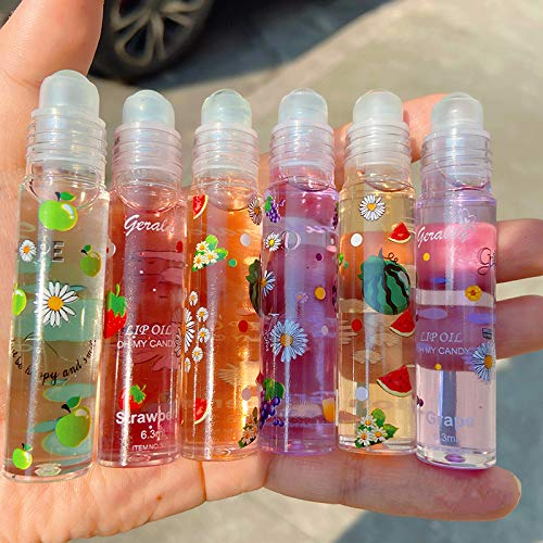 Lucidalabbra Lucidalabbra Lucidalabbra in Vetro Trasparente Lucidalabbra Rossetto Olio per Labbra (6 Colori Vengono Spediti a Caso)
