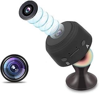 Cámara Oculta cámara espía Mini niñera de Seguridad para el hogar 1080P HD con monitorización de Movimiento 120 ° Gran Angular Video de visión Nocturna (Negro)