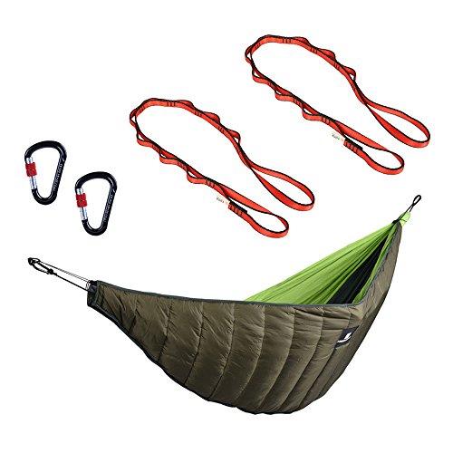 MagiDeal Hammoc d'arbre avec Mousqueton Camping en Plein Air Tapis Suspendu Voyage Pique-Nique