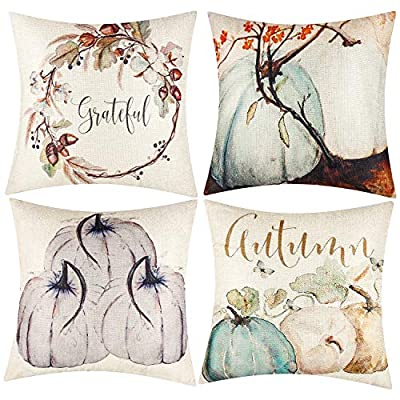 Kolewo4ever 4 Pcs Happy Valentine's Day Throw Pillow Covers Love Heart Decorative Pillow Covers for Home Sofa Bedroom Car 18x18 Inch
