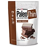 Julian Bakery Paleo Thin Protein Powder | Double Chocolate | Grass-Fed Beef Protein | 25g Protein | 2 Net Carbs | 2 LBS | 30 Servings