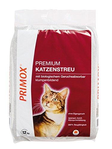 Primox 232025 Premium Katzenstreu mit Geruchsabsorber 12 kg