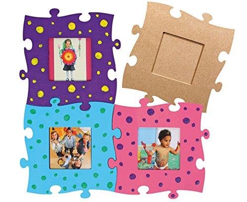 Betzold 42293 - Bilderrahmen Holz-Puzzle 3 Stück MDF blanko - zum selbst gestalten für Kinder