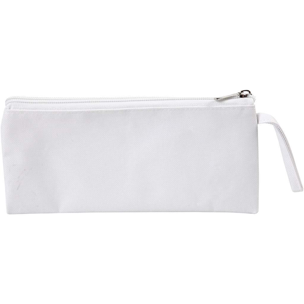 Estuche para lápices, tamaño 23 x 11 cm, color blanco, 1 unidad: Amazon.es: Amazon.es