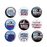 2020 バッジブローチ ジョー・バイデン / カマラハリス ボタンピン プレジデント 2020 ボタン 9個セット