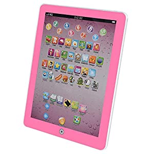 ZunFeo New Version ABC Toddler Tablet, Learning & Education Toys for Kids, Kids iPad with 8 Toddler Learning Games, English Language Educational Tablets, Study Learning Machine (Pink) by ZunFeo