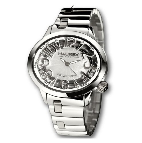 Haurex Italy Damenuhr White Dial Preziosa Watch #XA336DWM