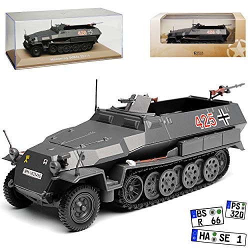 Atlas Hanomag Sd. Kfz. 251/1 Grau Schützenpanzerwagen 1/43 Modell Auto
