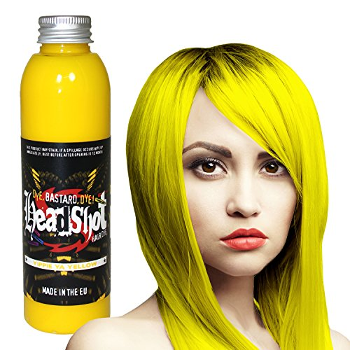 Gelbe Haarfarbe Headshot Yippie Ya Yellow, Semi-permanente Haartönung 150 ml