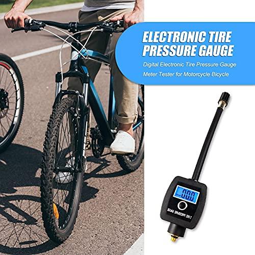 YINGGEXU Medidor de presión de Medidor de presión de neumáticos electrónicos fácilmente instalación Personal Pantalla Digital portátil Piezas de Bicicleta para Bicicleta de Motocicleta