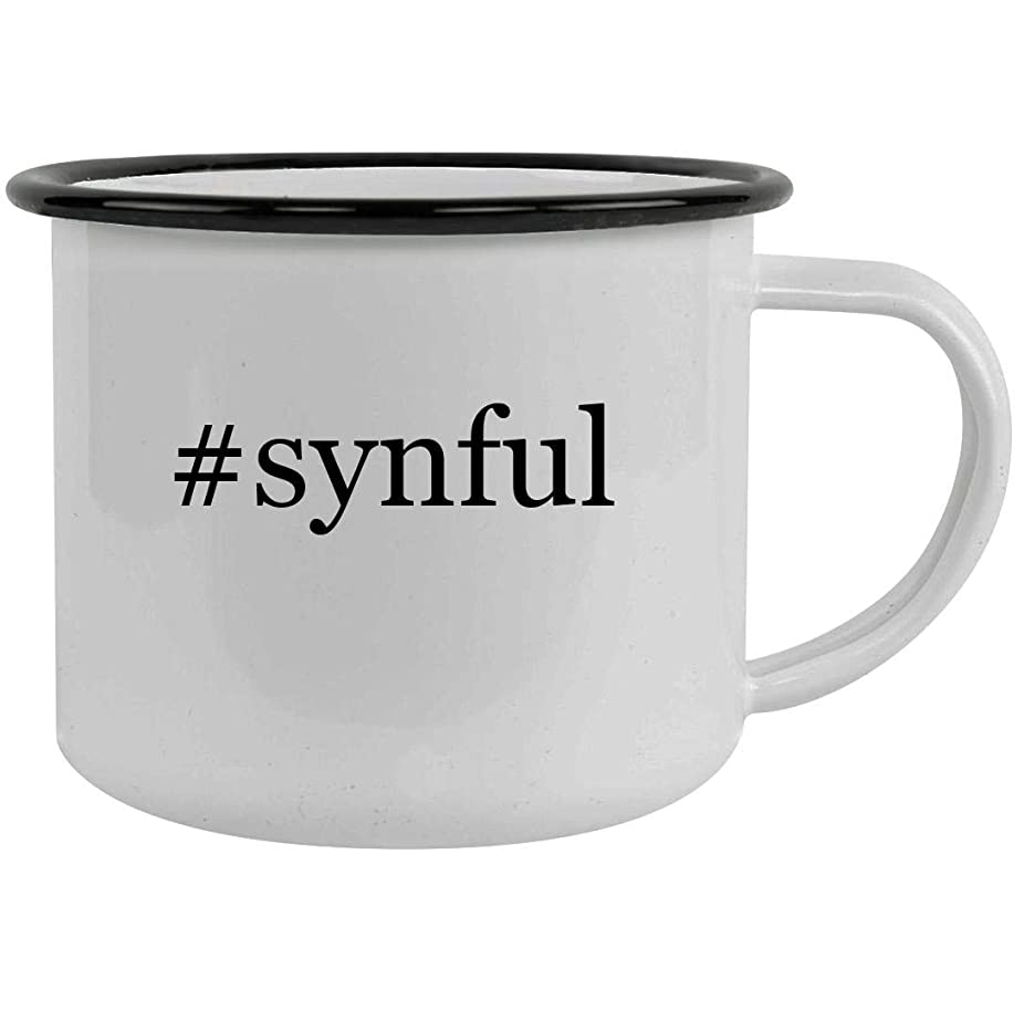 #synful - 12oz Hashtag Stainless Steel Camping Mug, Black