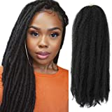 4Packs Marley Hair Afro Kinky Twist Crochet Braids Hair Long Marley Braiding Hair 100% Kanekalon Synthetic Twist Hair Extensions for Women