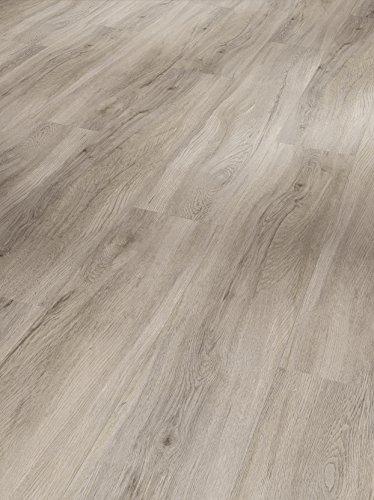 Parador Klick Vinyl Bodenbelag Basic 30 Eiche pastellgrau Landhausdiele Holzstruktur 1,825m², hochwertige Holzoptik mittel grau 9,4mm, einfache Verlegung