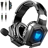 HERMEPER Gaming Headset Xbox One Headset with 7.1...