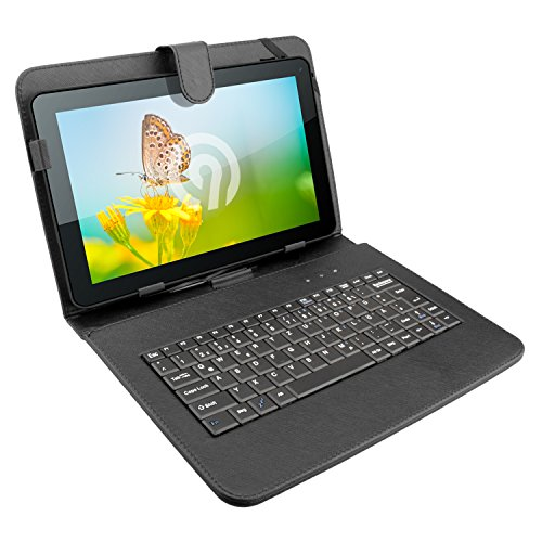 NINETEC Keyboard Case Tasche Tablet PC Cover 10 Zoll Schutz Hülle Micro-USB