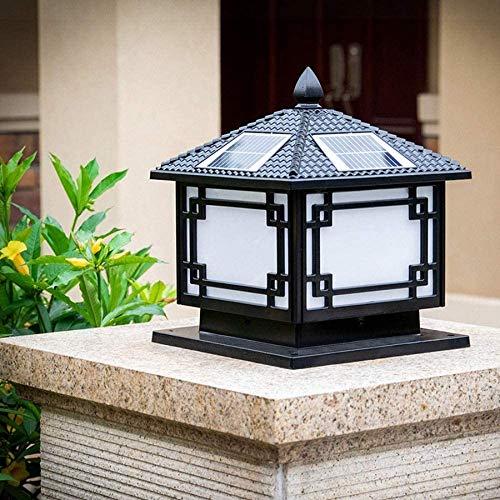 Columna llevó la linterna al aire libre de la lámpara solar a prueba de agua Villa Plaza Valla lámpara del pilar del jardín de la lámpara ahorro de energía de iluminación de decoración Porche Patio de