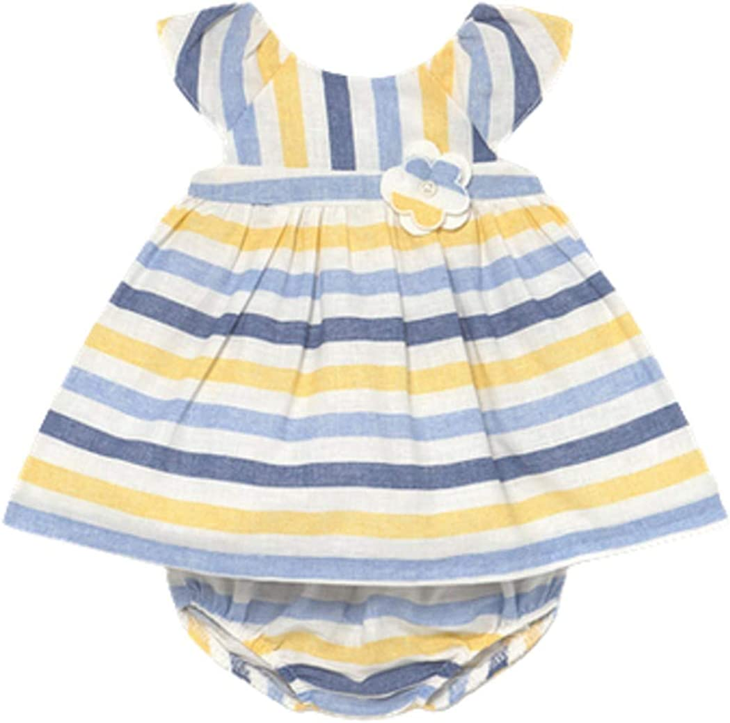 Regular discount Mayoral Baby Girls 2 Piece Yellow Max 48% OFF Blue White Striped and Linen