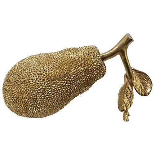 Kaemingk Pomme Jack en pierre synthétique dorée.