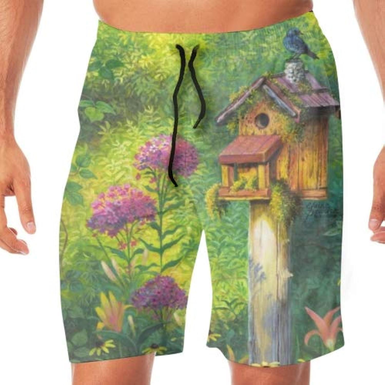 サーフパンツ 水着 ショート おしゃれ Beautiful Blue Bird スイミング パンツ ポケット つき メンズ
