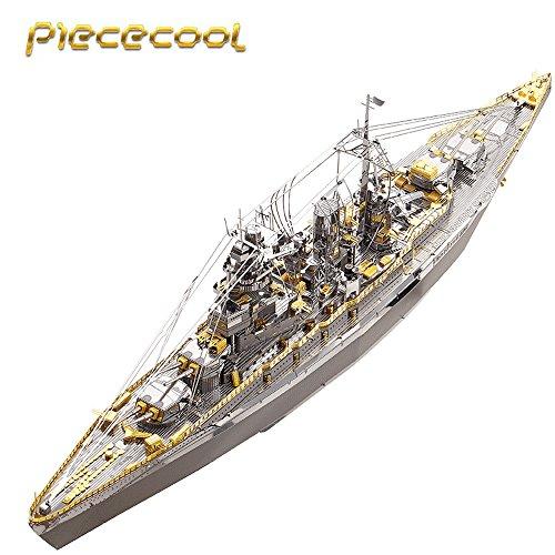 Piececool 2017 3D Metal Puzzle Japan Nagato Class Battleship P091-GS DIY 3D Laser Cut Assemble Models Toys for Audit