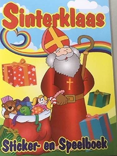 Harlekijn Sinterklaas - Sinterklaas Sticker-en kleurboek 32 pag